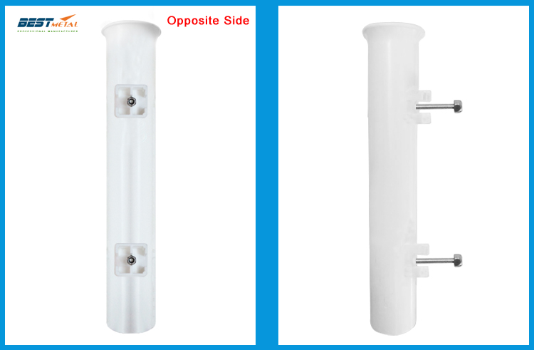 2 Pieces White plastic fishing rod holders socket fishing rod racks for boat marine fishing box kayak boat yacht