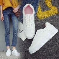 Летние белые кроссовки; женская повседневная обувь; туфли на платформе; mujer; женская дышащая обувь с круглым носком, увеличивающая рост