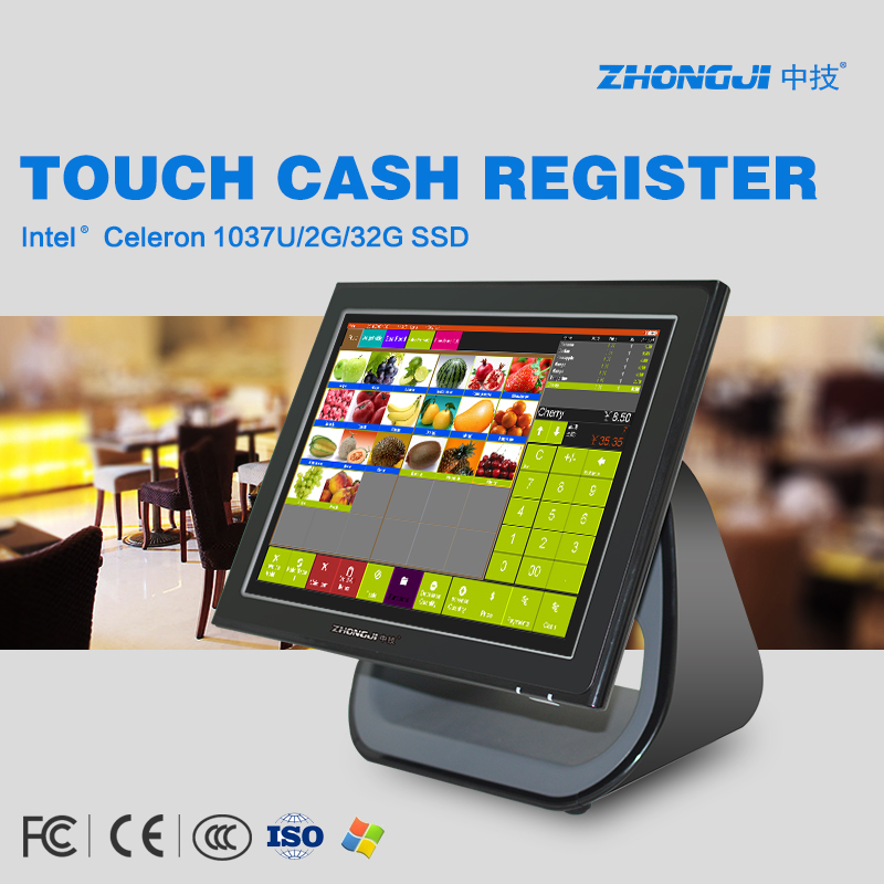 Multi-language POS all in one touch cash register with touch screen POS windows tablet