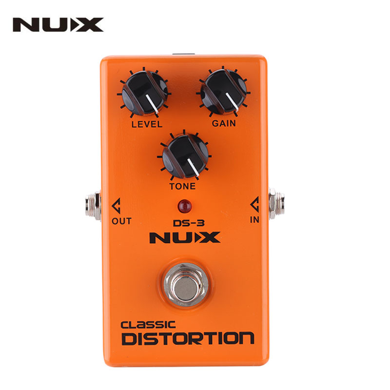 NUX DS-3 Classic Distortion Guitar Effect Pedal True Bypass High Quality Guitar Parts & Accessories nux hg 6 guitar distortion 3 gain stages electric effect pedal true bypass led indicator for rock solo durable free shipping
