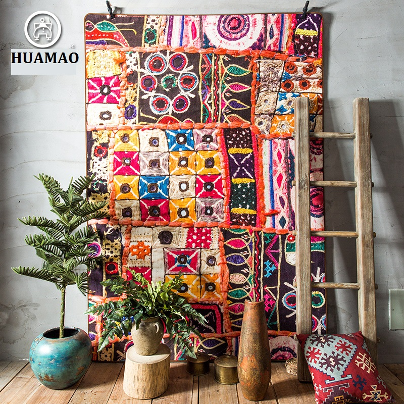 HUAMAO 2017 New Retro National Style Carpet,sitting Room The Bedroom Tea Table Rugs,Colour Short Hair Large Carpets