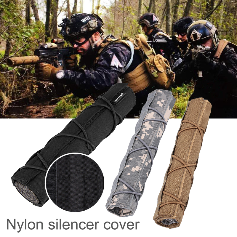 Multicam 8 66 22cm Mirage Heat Cover Muffler Airsoft Muffler Sleeve Suppressor Shield Sleeve for Suppressor