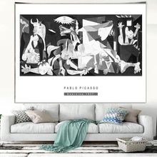 Tapestry great masterpiece art tapestry Picasso paintings Guernica curtain cloth blanket Beach Towel giant poster