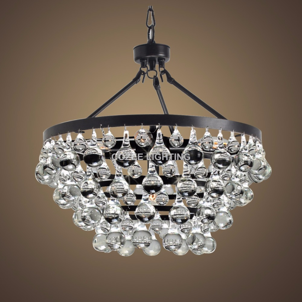 compare prices on chandeliers crystal round online shoppingbuy  - vintage round weston chandeliers led lighting modern glass drops chandelierhanging light for home hotel restaurant