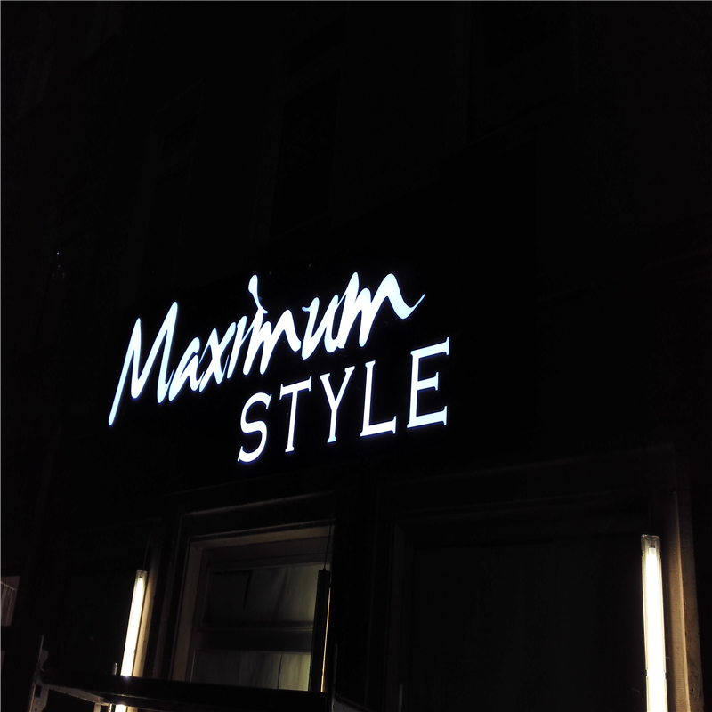 Factoy Outlet Outdoor Brightest Acrylic Front  LED Advertising Channel Letter Sign