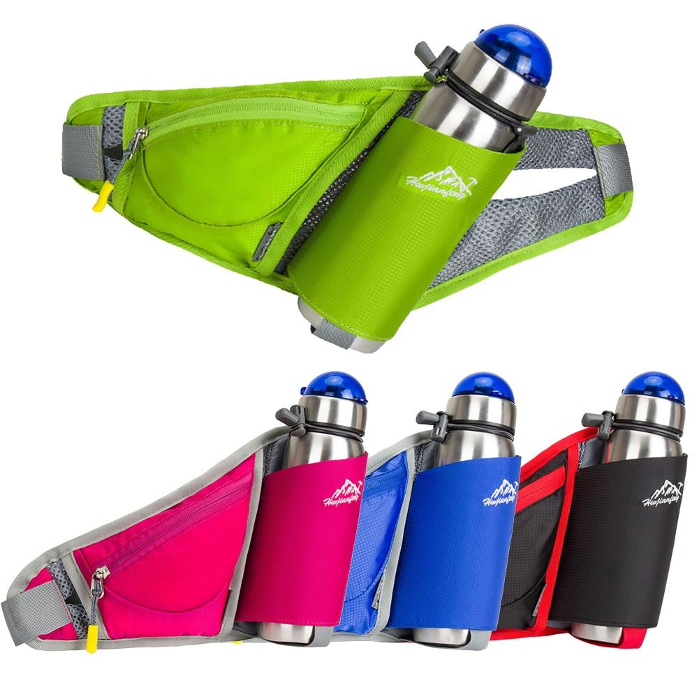 Women Waist Bags Sports Water Bottle Holder Outdoor Running Belt Bag