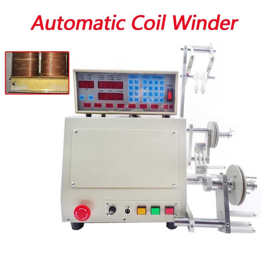 Haute qualité Nouvel ordinateur C automatique Coil winder winding machine CNC manuel 0.03-1.2mm cuivre main bobine de fil enroulement 220 V