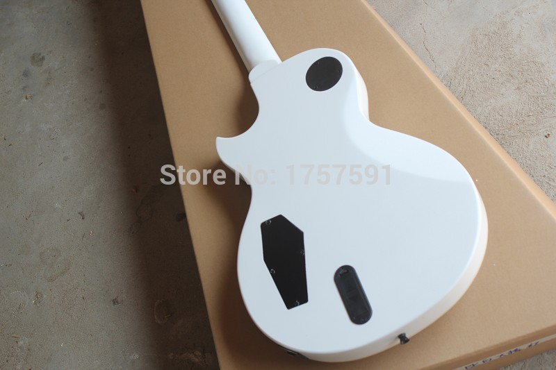 Hot Sale!! EMG pick-up with Active Pickup 9V Battery for ESP Custom shop Eclipse white Electric Guitar Free Shipping
