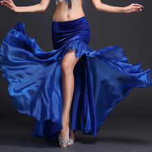 2017 New Woman Belly Dance Split Skirt Novel Color Durable Quality For Female India Garment Adult Divided Skirt Free Shipping