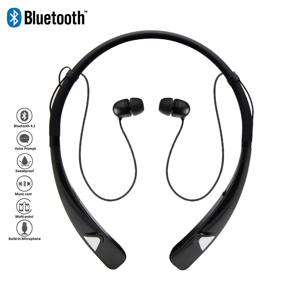 Sports Wireless Bluetooth Earphone Headphones with microphone Sweatproof Noise Cancelling Headset For iPhone 5 6 6s Plus Samsung remax s2 bluetooth headset v4 1 magnet sports headset wireless headphones for iphone 6 6s 7 for samsung pk morul u5