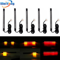 5pcs Motorcycle Light 48 LED Flexible Strip For Tail Brake Bulbs Stop Turn Signal Lights License