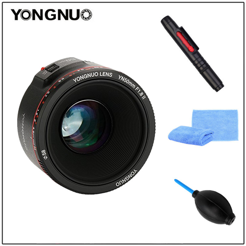 Image 2 - YONGNUO YN50mm F1.8 II Large Aperture Auto Focus Lens 50mm Lentes For Canon 100d 650d 5d 77d 500d 1000d 5DIV 5DIII 5DII 5D 60D-in Camera Lens from Consumer Electronics