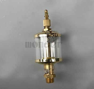1/8 BSP Male x 2 Outer Diameter Brass Sight Gravity Drip Feed Oiler Lubricator Oil Cup For Hit Miss Engine 1 2 bsp 150mm lube devices brass oil level gauge sight glass for lathes