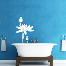 Lotus Flower Pattern Wall Decal Yoga Studio Indian Bedroom Buddha Stickers Interior Bathroom Art Mural DIY Removable SYY799