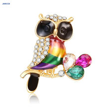 JAVRICK Giraffe Shape Colorful Enamel Brooches Animal Pin Frog Snail Charms For Women Kids Scarf Suit Lapel Pins Pendant Jewelry(China)
