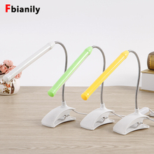 Lámpara de escritorio Led USB con Clip, mesita de noche Flexible para lámpara de mesa, lectura de libros, estudio, oficina, trabajo, luz nocturna para niños