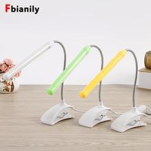 Lampe de bureau à Led avec Clip USB, Flexible, pour chevet, lecture, étude, bureau, veilleuse pour enfants