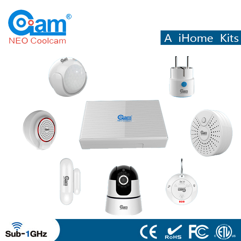 NEO Coolcam A IHome Kits Wireless Alarm System Support Phone APP Control For Home Security Protection Alarm System