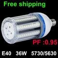 Коэффициент мощности 0 95 супер яркий E40 36W 5630SMD Светодиодная лампа холодный белый/теплый белый энергосберегающий кукурузный свет