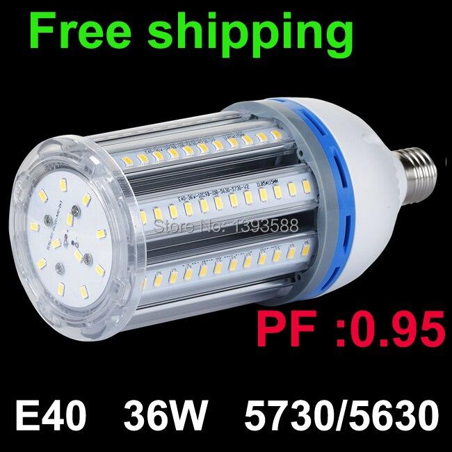 Facteur de puissance 0.95 Super lumineux E40 36 W 5630SMD lumière LED ampoule lampe blanc froid/blanc chaud économie d'énergie lumière de maïs