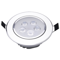 4 x White LED Embutido Teto Lâmpada 5 W 6500 K