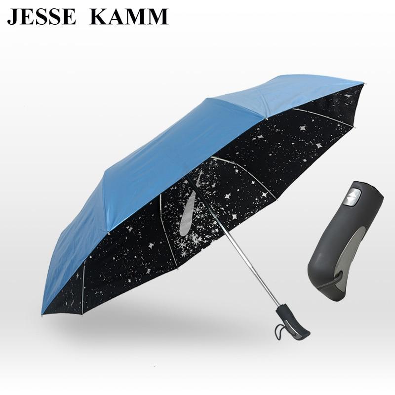 JESSE KAMM Meteor douche automatiquement ouvert trois fold shade parasol