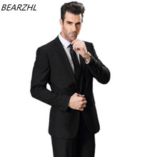 tuxedo for wedding suit slim fit custom made suits high quality black dress summer dress prom wear 2017