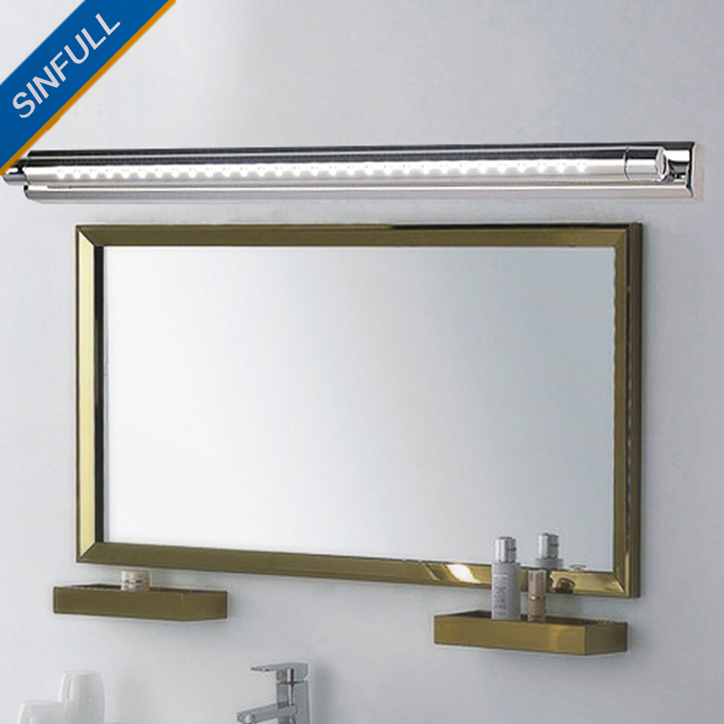 Modern Waterproof Mirror Front Light Bathroom Led Wall Lamp Makeup Room Stainless Steel Anti-Fog Washroom Lamp Indoor Lighting luxury modern white acrylic 12w led bathroom wall lamp mirror front fashion wall light showroom washroom wall lamp