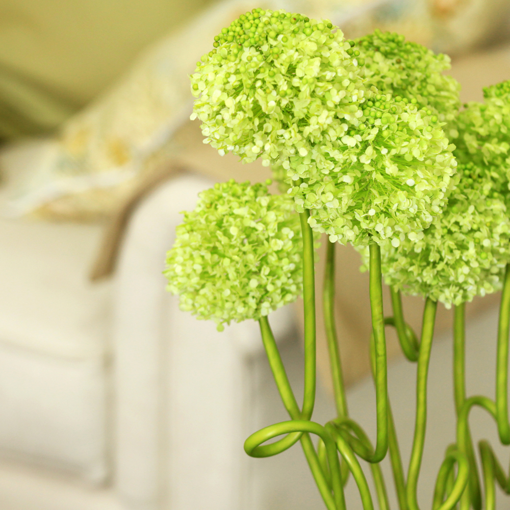 37 Onion Foxtail Silk Flower Single Stem In Green Nearly Natural In