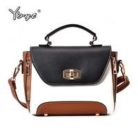 YBYT Brand 2018 New Vintage Casual Women Satchels Panelled Shopping Bag Ladies Handbags Female Shoulder Messenger