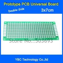 Free Shipping 50pcs/Lot 3x7 cm Double-Side Copper Prototype PCB Universal Board 3*7 cm