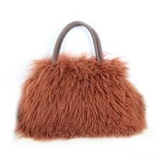 Real wool bag Australian beach wool fur shoulder bag wool ladies handbag  large capacity fashion luxury aa6e633cb9f56
