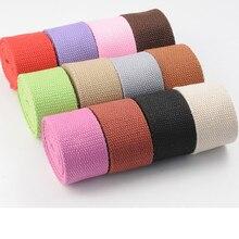 2.5cm color canvas with cotton knit bag belt Backpack belt Bundle belt Belt webbing hand accessories ring linked belt with bag