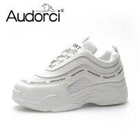 Audorci 2018 Summer Women S Casual White Shoes Breathable Fashion Woman Mesh Sneakers Shoe Outdoor Damenschuhe