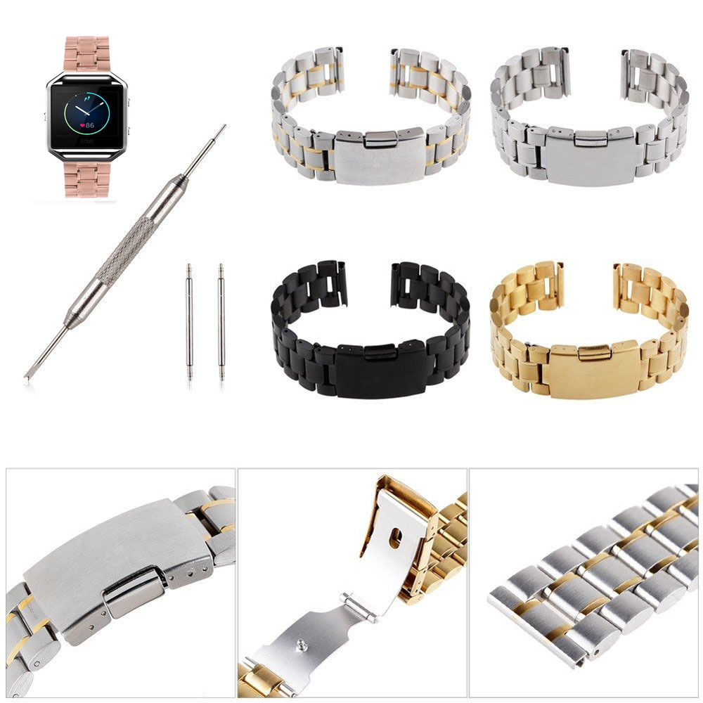 Band For Fitbit Blaze Smart Fitness, Stainless Steel Bracelet Watch Strap BlackBand For Fitbit Blaze Smart Fitness, Stainless Steel Bracelet Watch Strap Black