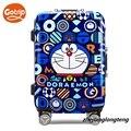 "20""24""inches cartoon doraemon design suitcase aluminum frame luggage high quality travel bag"