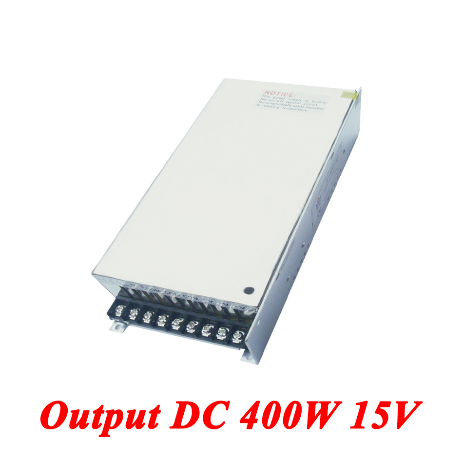 S-400-15 400W 15v 26A,Single Output Ac-dc Switching Power Supply For Led Strip,AC110V/220V Transformer To DC 15V,led Driver 15v 600w switching power supply 15v 40a single output ajustable 50 60hz ac to dc industrial power supplies s 600 15