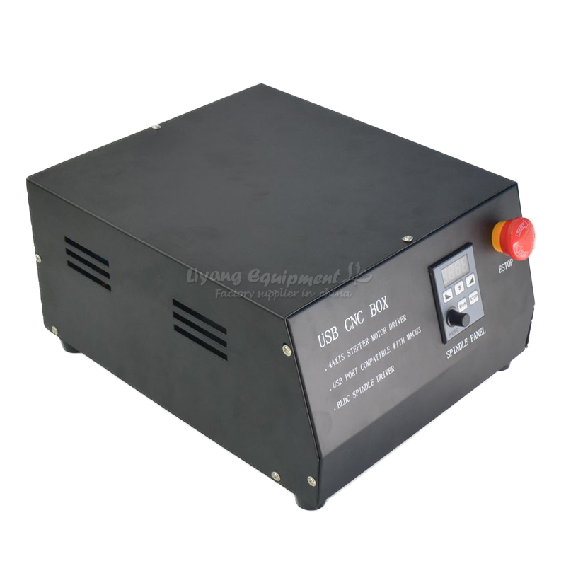DC Brushless Spindle Drive 4axis CNC Engraver Control Box MACH3 Parallet/usb Port