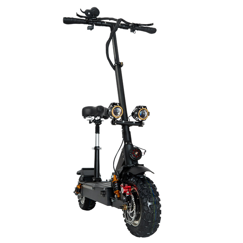 Fast Electric Scooter >> Us 1398 15 35 Off Janobike Electric Scooter Double Drive With Seat 60v 3200w Adult Fast Folding Scooter 11 Inch Road Tire Electric City Scooter In
