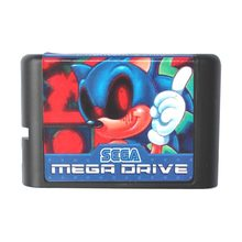 Sega MD game card - Phantom Sonic for 16 bit Sega MD game Cartridge Megadrive Genesis system(China)