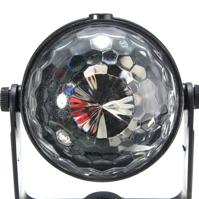 Mini RGB LED Stage Light 3 W Afstandsbedieningen Licht Discobal ...