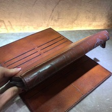 TERSE_Chinese manufacturer leather clutch purse for male vintage custom service handmade patina wallet large capacity OEM/ ODM