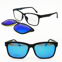 011 ULTEM поляризованные очки для мужчин, очки квадратной формы для близорукости, дальнозоркости, со съемным зажимом