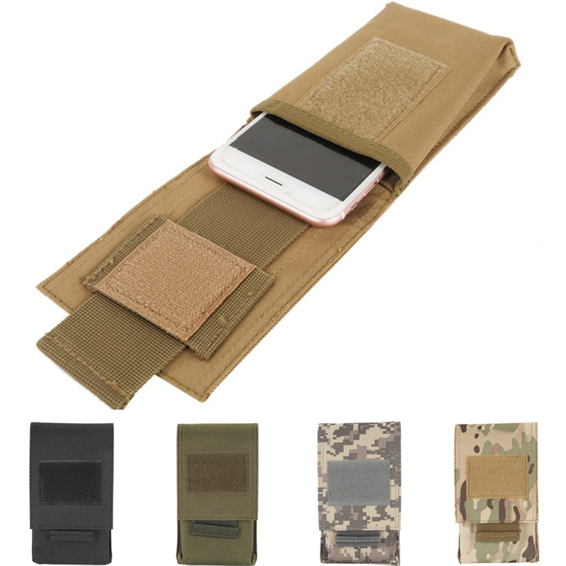 CQC 5.5 Inch Outdoor Military Tactical Cell Phone Pouch Molle Belt Holster Hunting Running Mobile Phone Holder Case Waist Bag