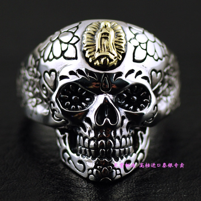 цена на Thailand imports, 925 Sterling Silver Genuine Good Vibrations Skull Ring