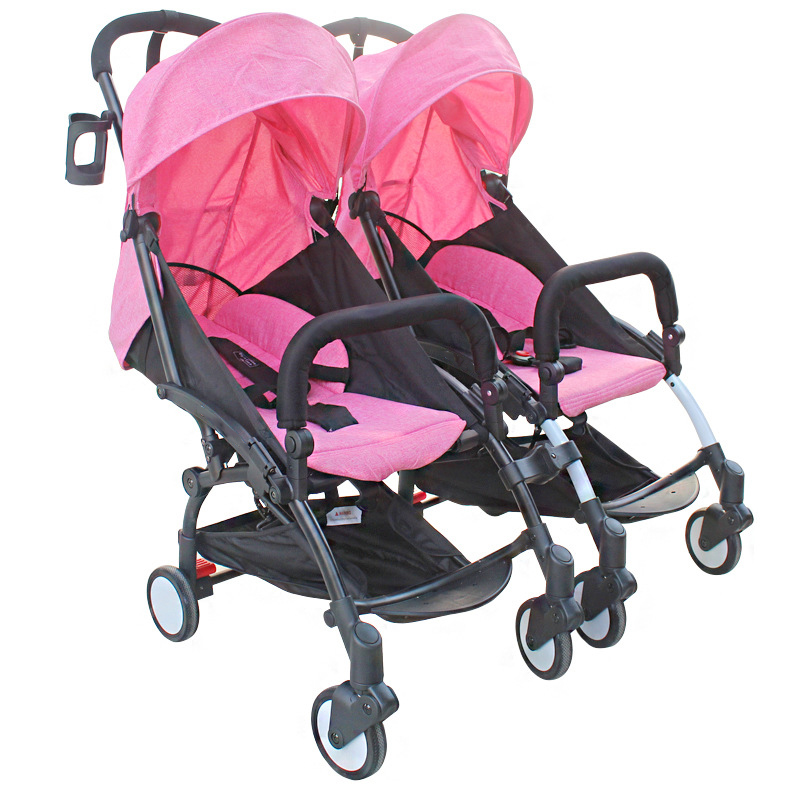 Baby Stroller for Twins Baby Carrige Infant Double Seat Pushchair Folding Two Babies Twins Stroller Newborn Poussette Pram avoid the ultraviolet radiation with the canopy pushchair baby build a safe soft environment for babies boys and girls pushchair