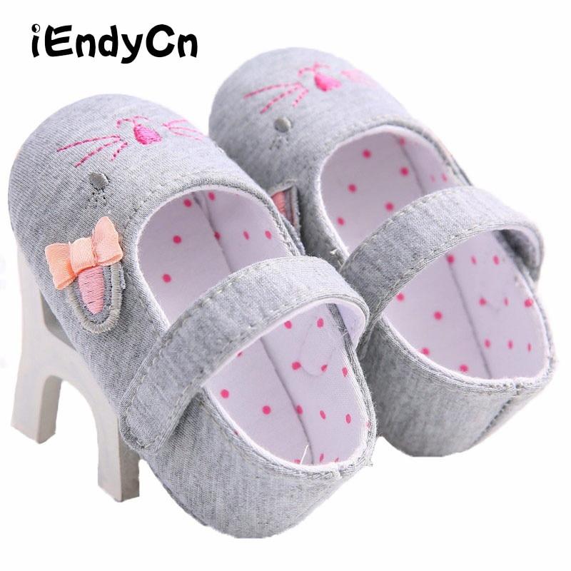 iEndyCn Cute Cartoon Kitten Baby Girls Kid Blomster Crib Sko Blød Sole Pustende Toddler Sko Prewalker TSP331