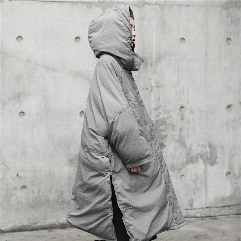 Coton Taille Solide Lâche 2018 Femmes Gray Épaississement Lgp676 Hiver Automne À Manteau Haute Capuche Nouveau Au Garder Qualité Parka Couleur Long Plus Chaud CwApqzw