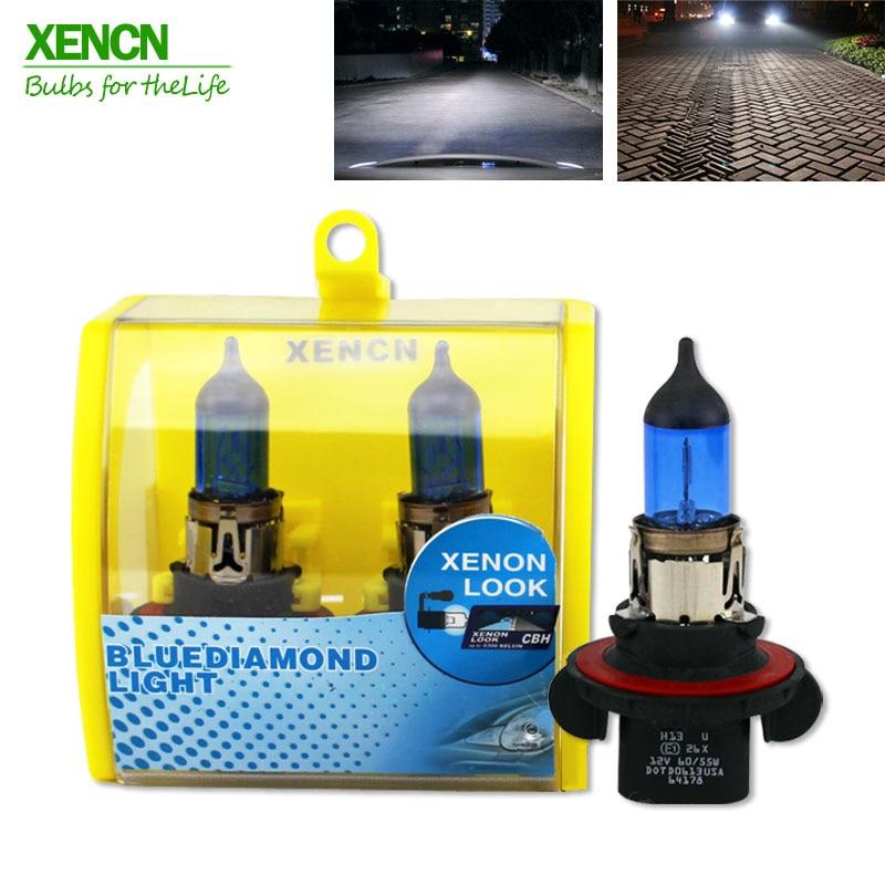XENCN 9008 H13 12V 60/55W 5300K Blue Diamond Light Car Bulbs Headlight Halogen Lamp For Chevrolet Cruze Hummer 30% More Ligh 2X
