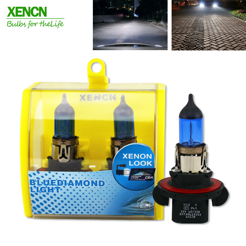 XENCN 9008 H13 12V 60/55W 5300K Blue Diamond Light Car Bulbs Headlight Xenon Look Halogen Lamp for chevrolet cruze Hummer resin aircraft baby room wood chandelier led acrylic 3 head pendant lamp modern chandelier led children s kids bedroom loft